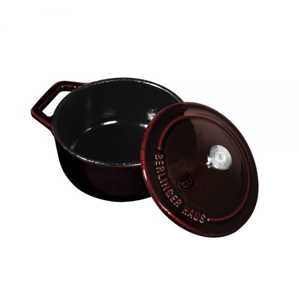 Ketaus puodas, 10 cm, Metallic Line Burgundy Edition-BH-6495