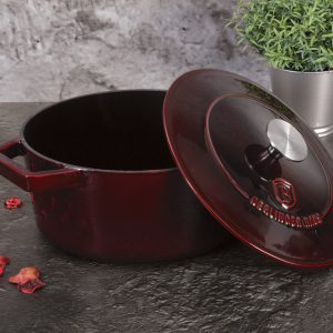 Špižinis puodas-emaliuotas, 24 cm, Metallic Line Burgundy Edition BH/6497-virtuvėje