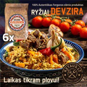 Ryžiai Devzira, dėžėž 6 x 800 g